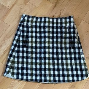 J.Crew check mini skirt